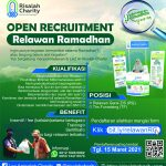 Open Recruitment Relawan Ramadhan LAZ Risalah Charity 1442 H